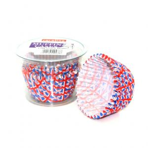 40 x Paper Baking Large MUFFIN Cup Cake Cases - Union Jack